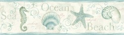 3120-53562B Island Bay Sea Green Starfish Border