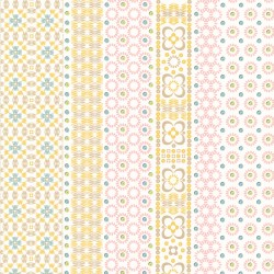 330223 Conta Light Pink Sequin Embroidered Stripe Wallpaper