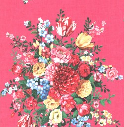 Ayaanle Pink Dutch Painters Floral Wallpaper