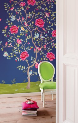 Blue Morning Glory Wallpaper Mural