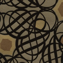 Caspian Brown Swirling Geometric Wallpaper