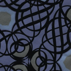 Caspian Blueberry Swirling Geometric Wallpaper