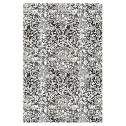 Painted Lace Light Grey Damask Mural