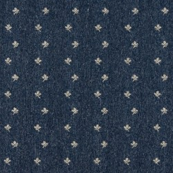 3634 Denim Posey Fabric by Charlotte Fabrics