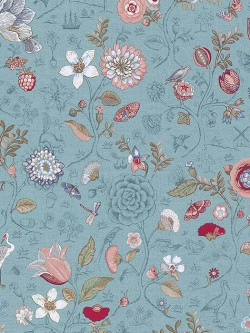375003 Espen Blue Floral Wallpaper