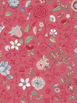375004 Espen Red Floral Wallpaper