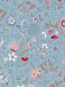 375005 Espen Sky Blue Floral Wallpaper