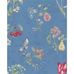 375025 Danique Sky Blue Garden Wallpaper