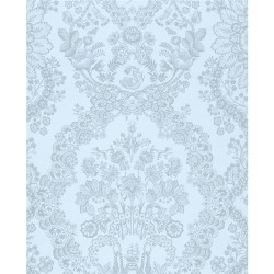 375045 Grillig Light Blue Damask Wallpaper
