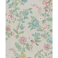 375060 Willem Beige Painted Garden Wallpaper