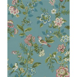 375062 Willem Teal Painted Garden Wallpaper