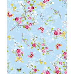 375071 Ilse Light Blue Cherry Blossom Wallpaper