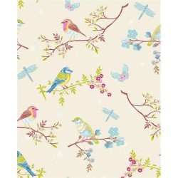 375080 Marit Cream Bird Wallpaper