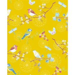375083 Marit Mustard Bird Wallpaper