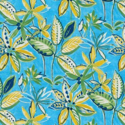 Painted Leaves 407811 Pool PKL Studio Outdoor Fabric
