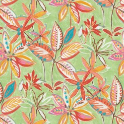 Painted Leaves 407812 Melon PKL Studio Outdoor Fabric