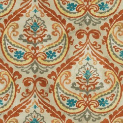 Summer Medallion 408922 Terra Cotta PKL Studio Outdoor Fabric