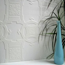 437-RD01600 Early Victorian Paintable Textured Vinyl