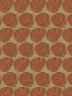 Astonishing Vidal Leaf Sienna Fabric