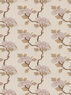 Alluring Asian Floral Lavender Fabric