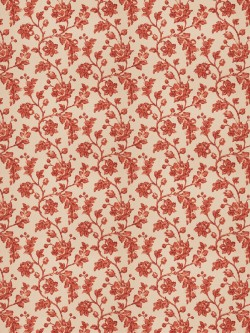 Exceptional Bello Floral Terra Cotta Fabric