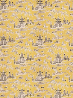 Stunning Sali Toile Lemongrass Fabric