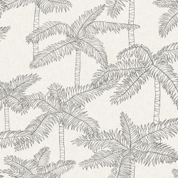 5356 93W8411 Palm Tree Sketch Wallpaper