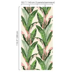 5421 44W8411 Banana Leaves Wall Mural