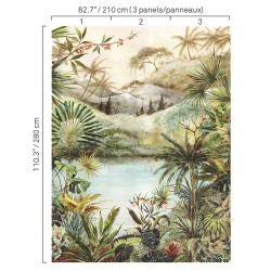 5422 77W8411 Tropical Scenery Wall Mural
