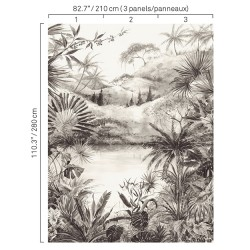 5422 95W8411 Tropical Scenery Wall Mural