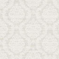ED3216 Contemporary Cream Damask On Metallic Grey Wallpaper