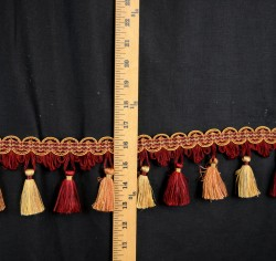 2902 9609 Trimland Burgundy Gold Tassel Trim