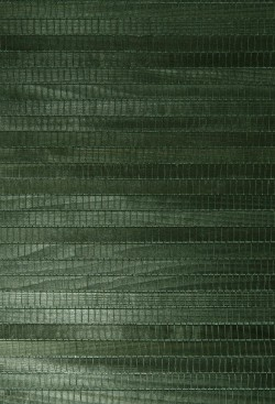 Michiko Green Grasscloth Wallpaper