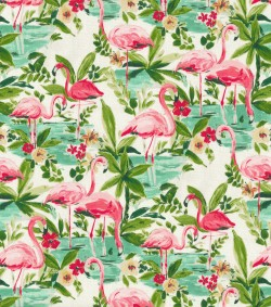 Floridian Flamingo 681350 In Bloom Waverly Fabric