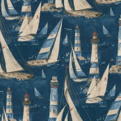 In The Breeze 681590 Indigo Waverly PK Lifestyles Fabric
