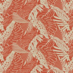 Leaf Reef 802671 Tangerine Tommy Bahama Outdoor Fabric