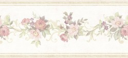 Lory Light Green Floral Wallpaper Border