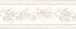 Tiff Lavender Satin Floral Wallpaper Border
