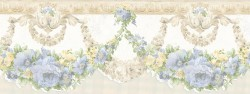 992B07569 Marianne Light Blue Floral Bough Border