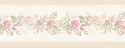Alexa Pink Floral Meadow Wallpaper Border