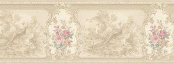Kris Beige Aviary Cameo Fleur Wallpaper Border