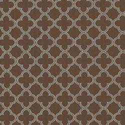 Abberley Trellis Chocolate Kasmir Fabric