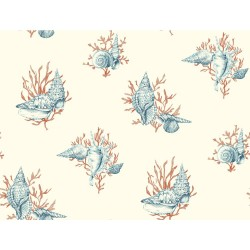 Ashford Toiles Shell Toile Wallpaper (AF2010_B12)