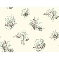 Ashford Toiles Shell Toile Wallpaper (AF2011_B12)