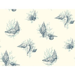 Ashford Toiles Shell Toile Wallpaper (AF2012_B12)