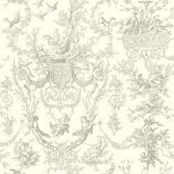 Ashford Toiles Old World Toile Wallpaper (AF2020_B12)