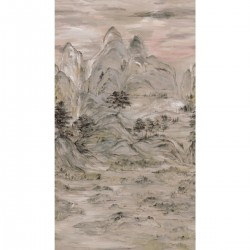 AF6597M Taupe Misty Mountain Wallpaper Mural