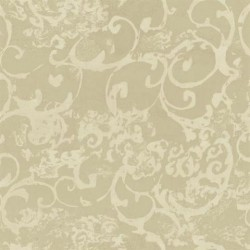 SL5667 Brushed Metallic Gold Taupe Aria Scroll Damask Wallpaper