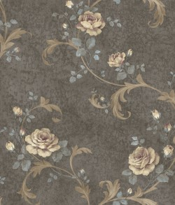 Gracie Grey Floral Scroll Wallpaper (ARS26001)