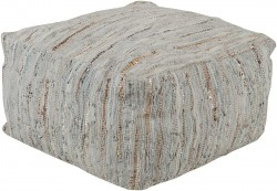 Anthracite Cube Surya Pouf